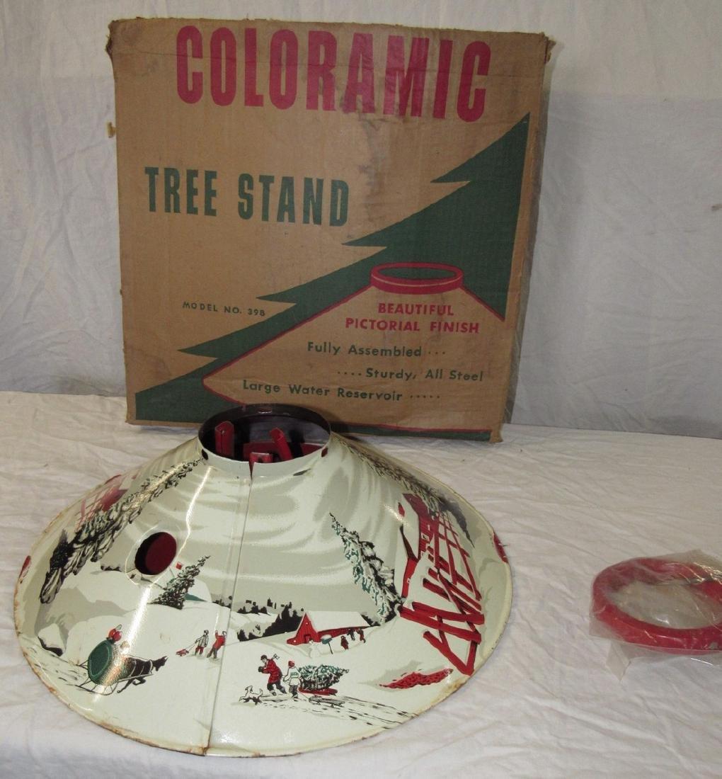 Vintage Christmas Tree Stand.Vintage Christmas Tree Stand