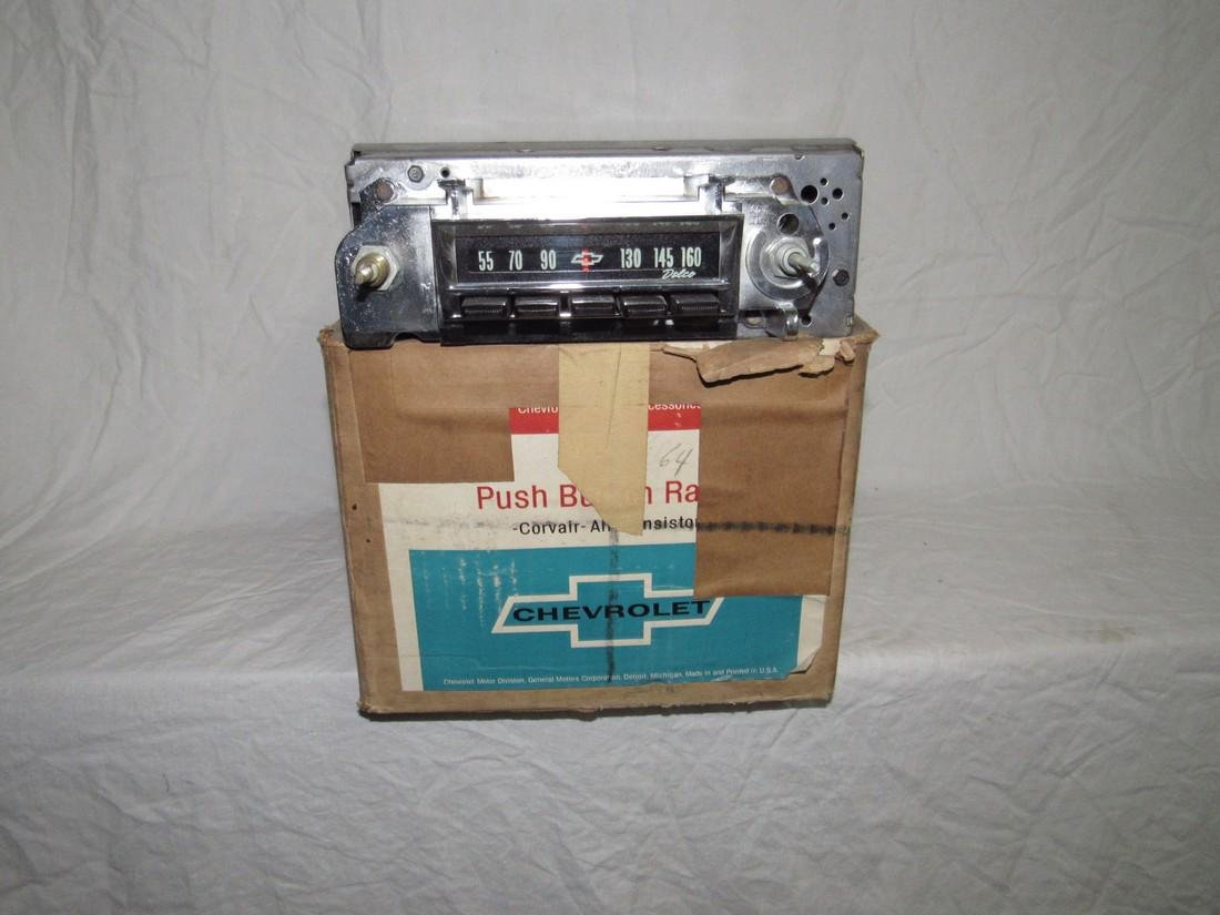 Chevrolet Push Button Corvair Radio & Speaker 9868864