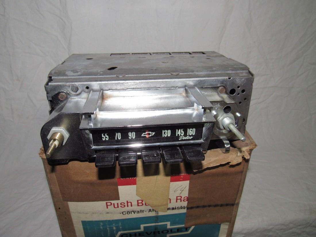 Chevrolet Push Button Corvair Radio & Speaker 9868864 - 2