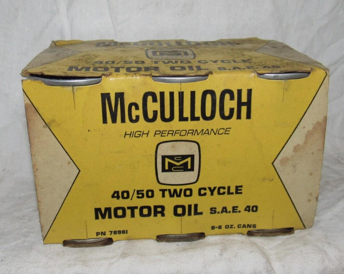 McCulloch Chainsaw 40/50 Two Cycle Oil 6-6oz Cans