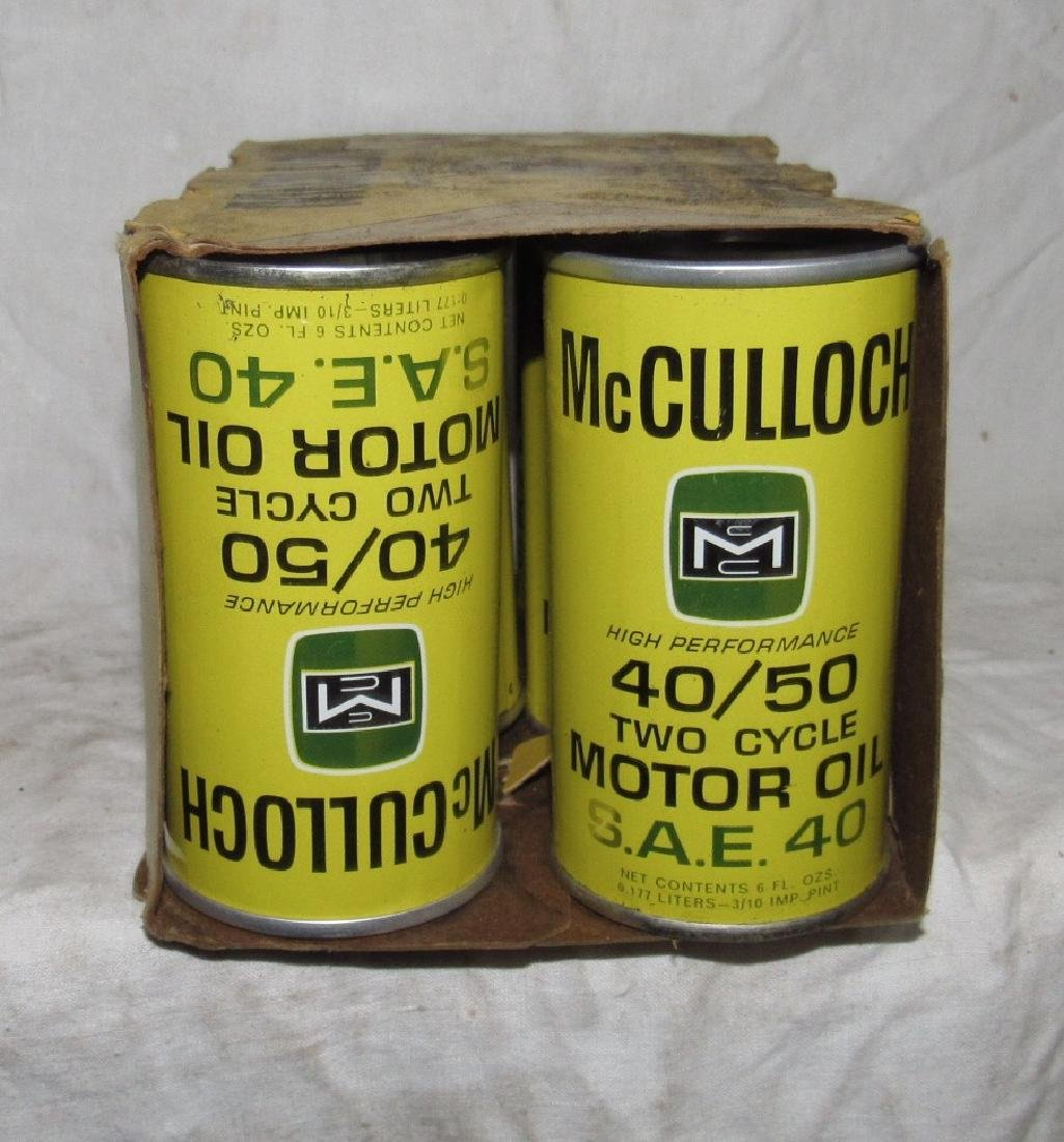 McCulloch Chainsaw 40/50 Two Cycle Oil 6-6oz Cans - 2