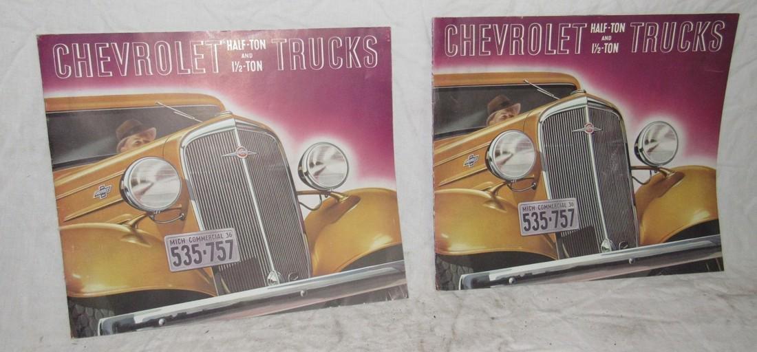 2 Chevrolet Half Ton & 1 1/2 Ton Truck Brochures