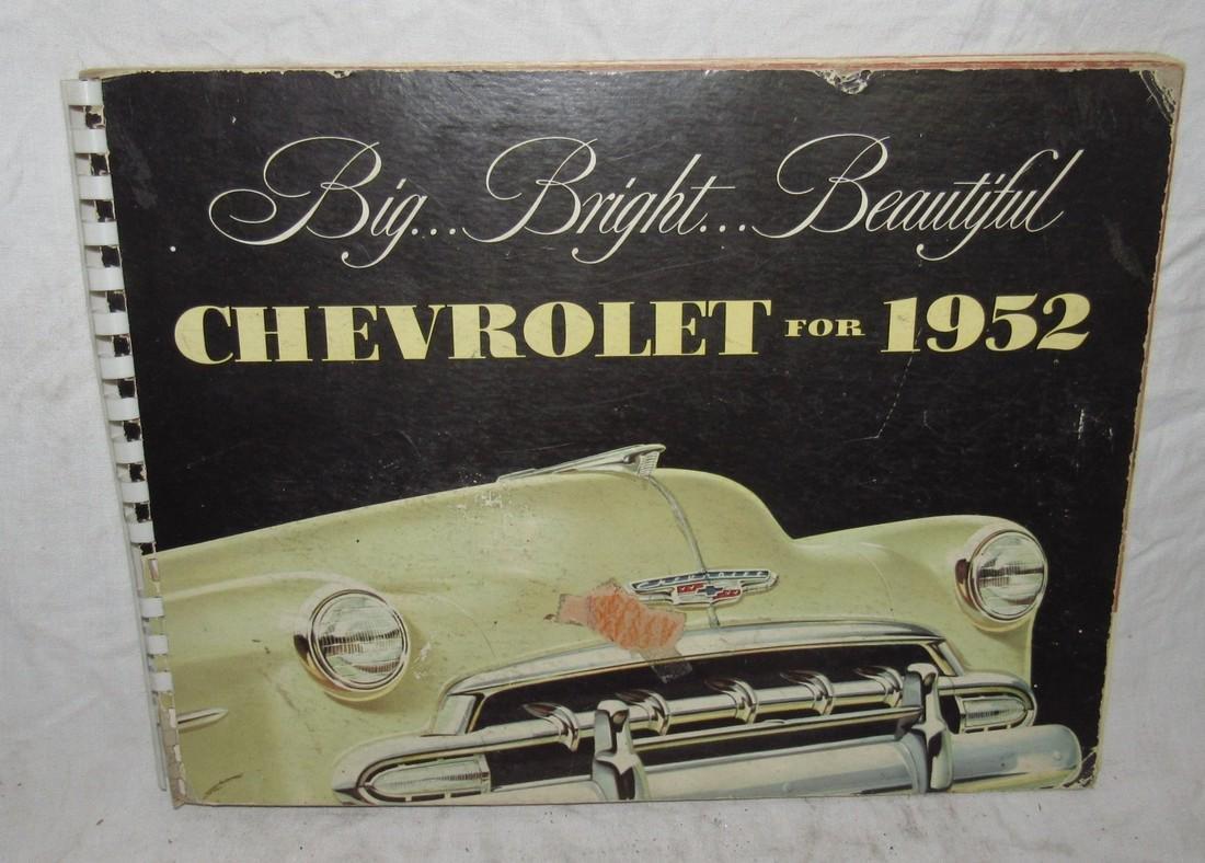 1952 Chevrolet Catalog