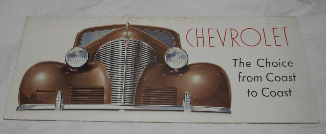1939 Chevrolet Fold Out Brochure