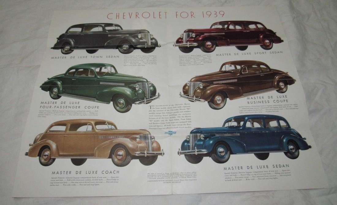 1939 Chevrolet Fold Out Brochure - 2