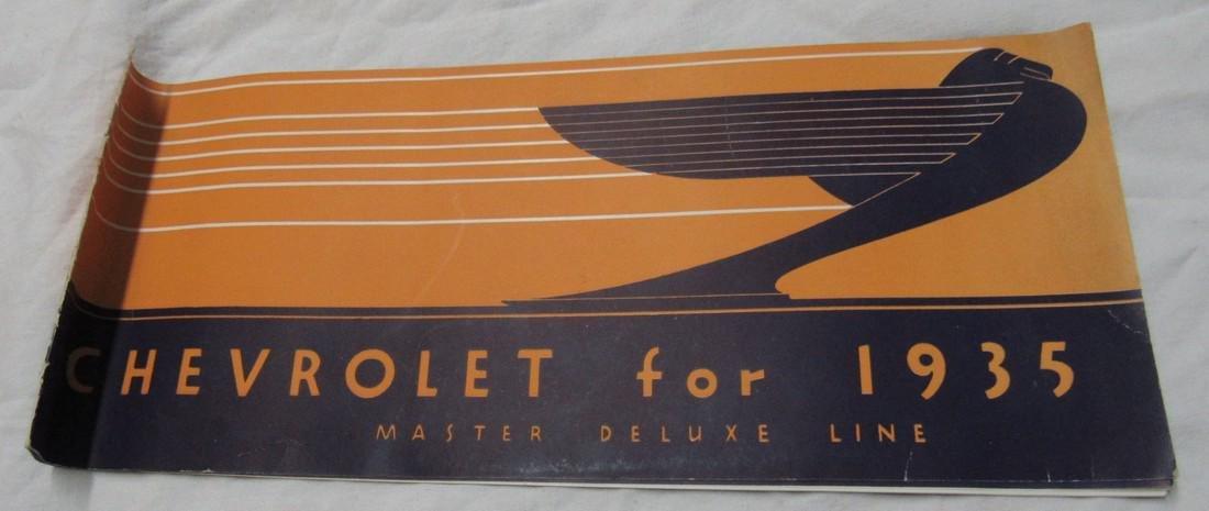 1935 Chevrolet Car Sales Brochure