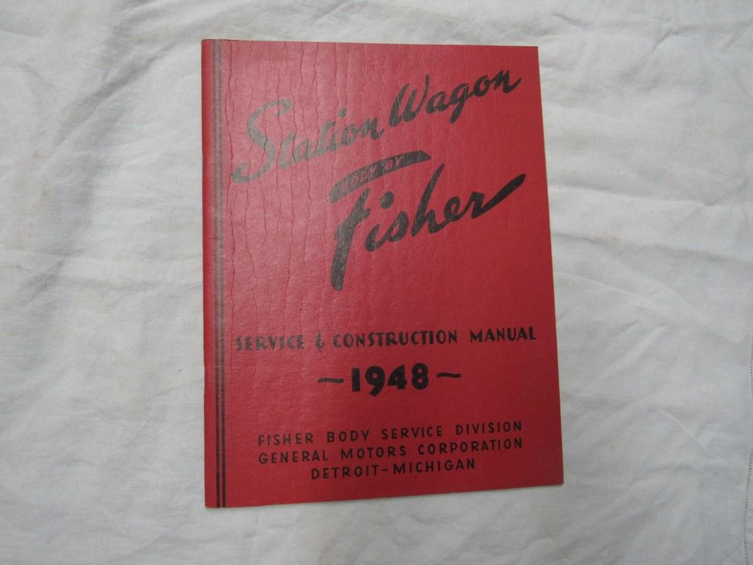 1948 Fisher Station Wagon Body Manual