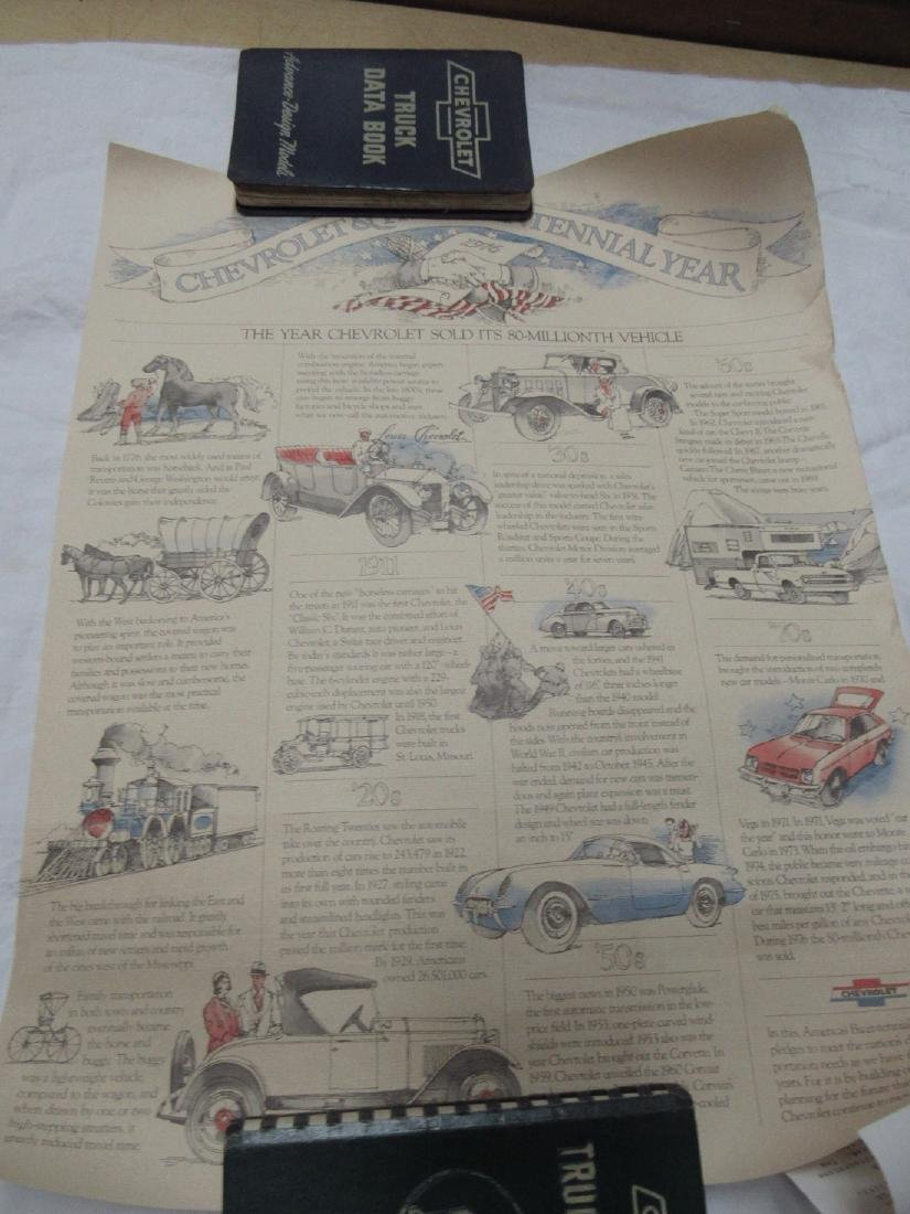 Chevrolet Data Books & Poster - 5