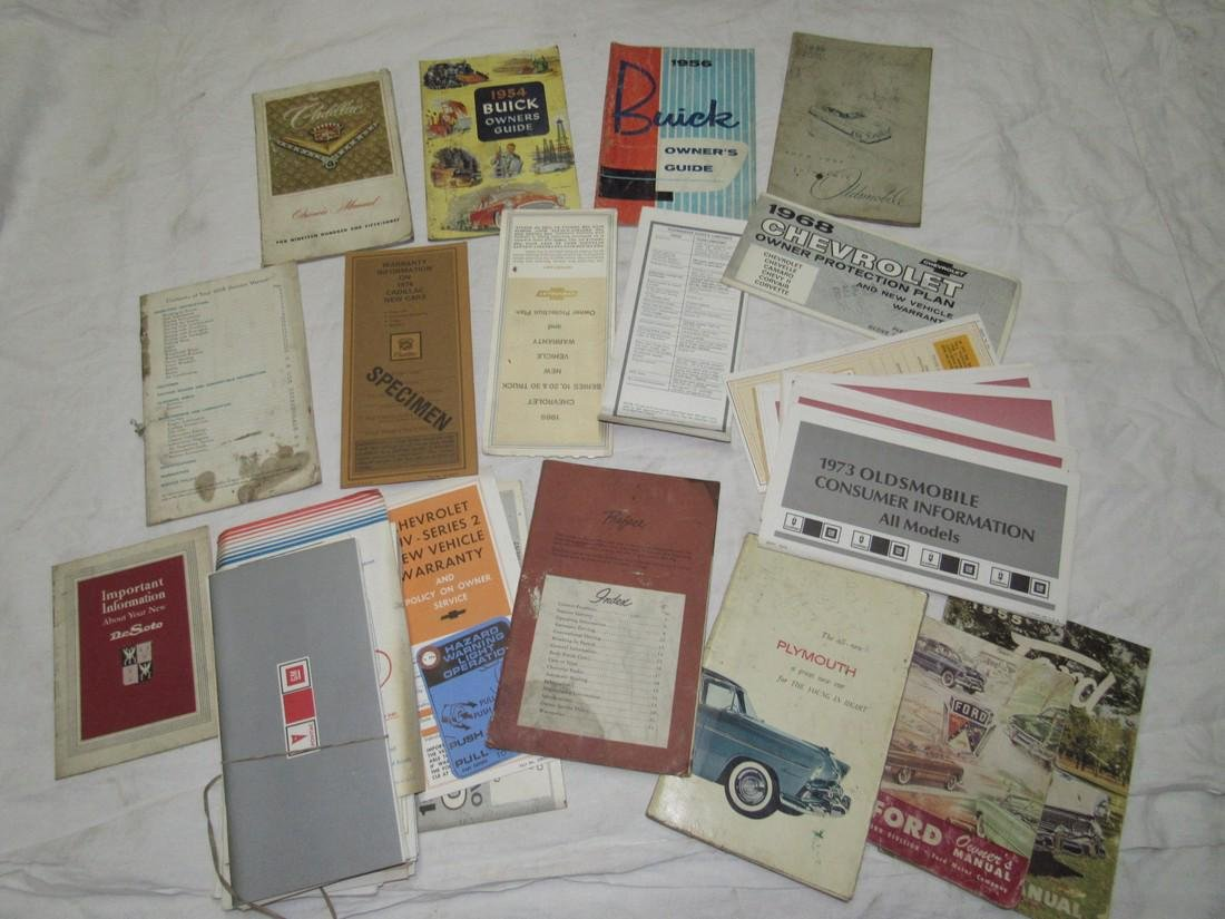 Plymouth Ford Desoto Buick Cadillac Chevy Manuals