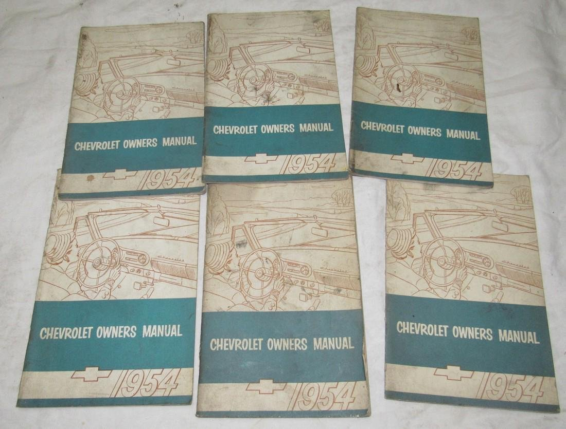 6 1954 Chevrolet Owners Manuals