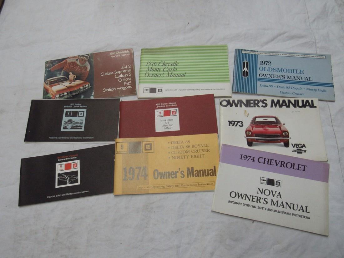 Oldsmobile Chevelle Vega Nova Owners Manuals
