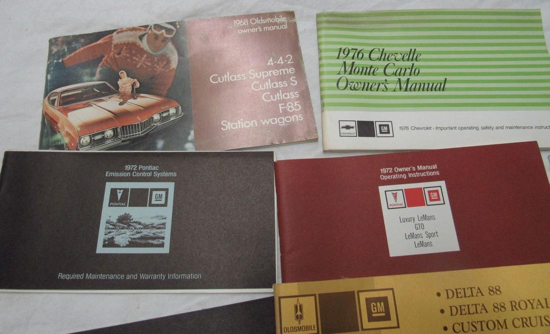 Oldsmobile Chevelle Vega Nova Owners Manuals - 2