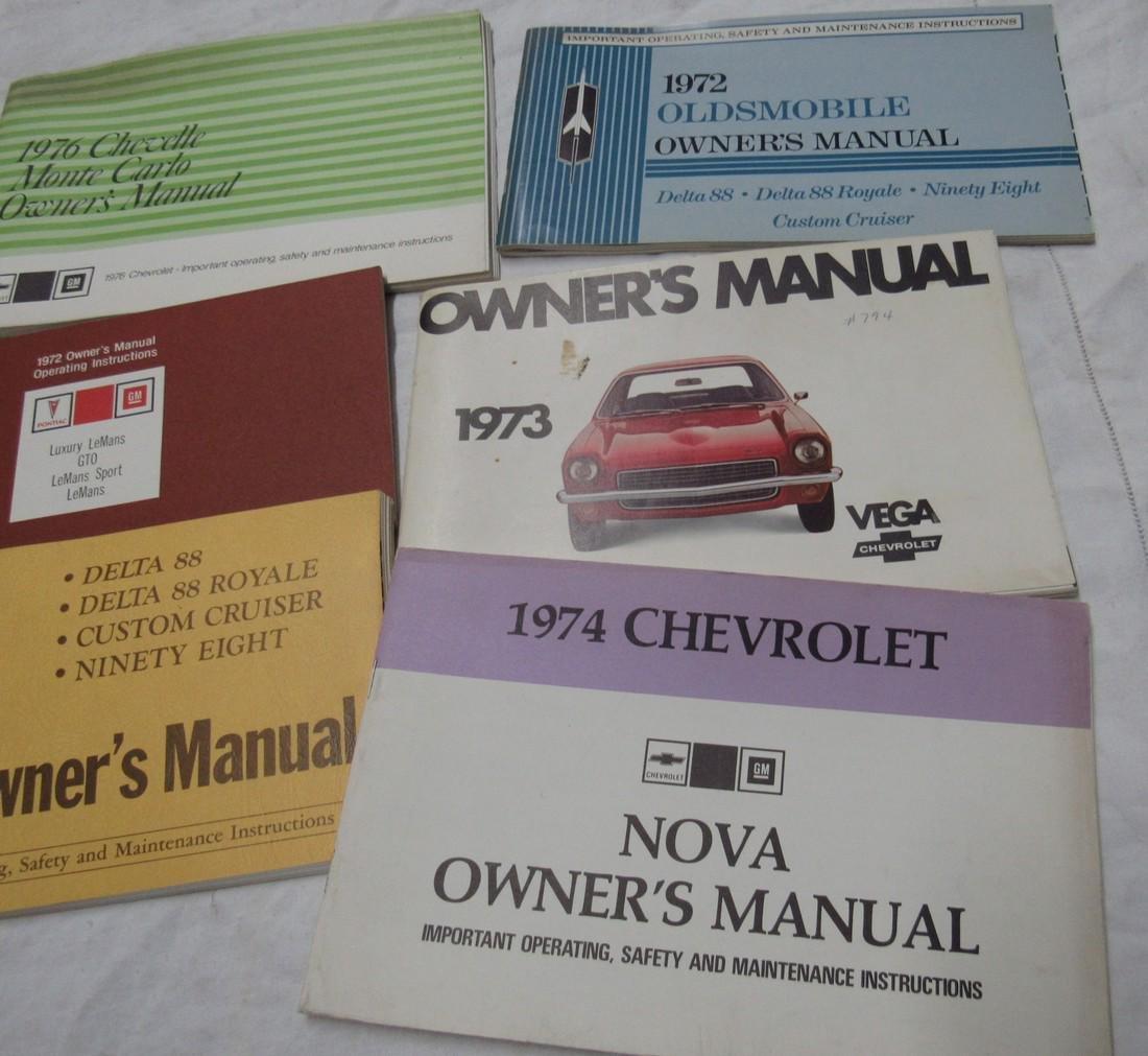 Oldsmobile Chevelle Vega Nova Owners Manuals - 4