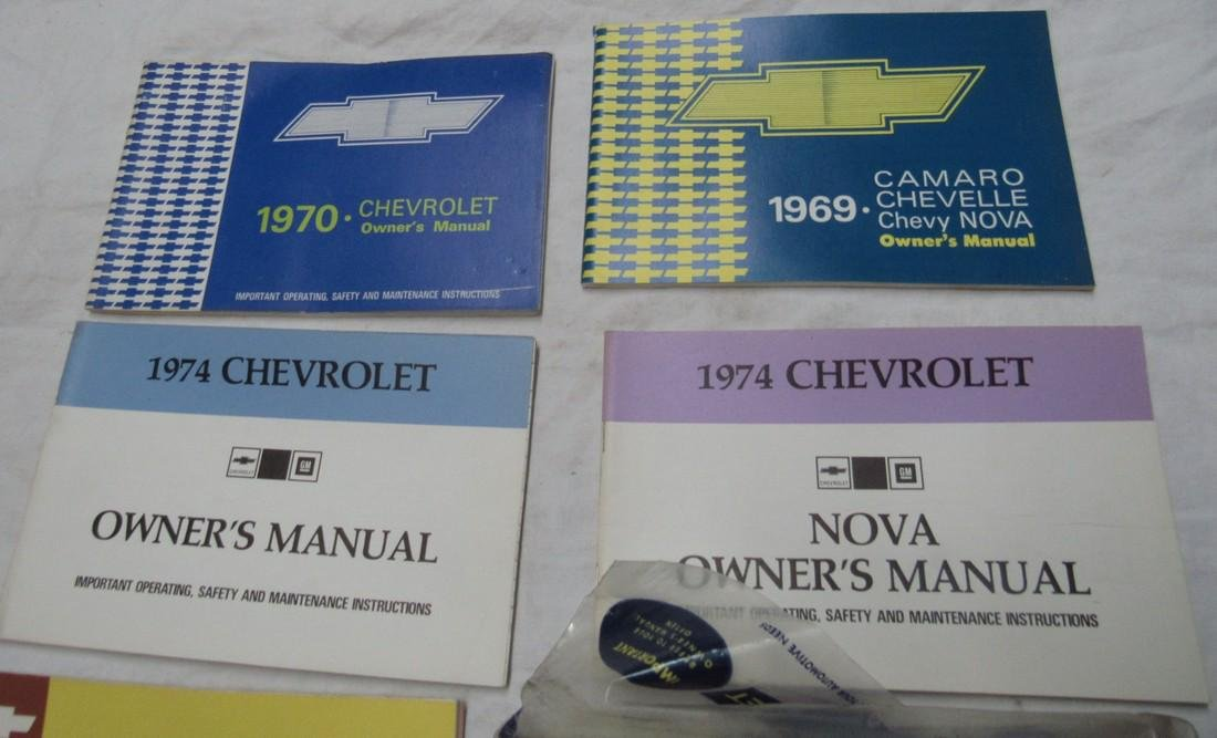 1969 Camaro Chevelle Nova 1974 1970 Owners Manuals - 2