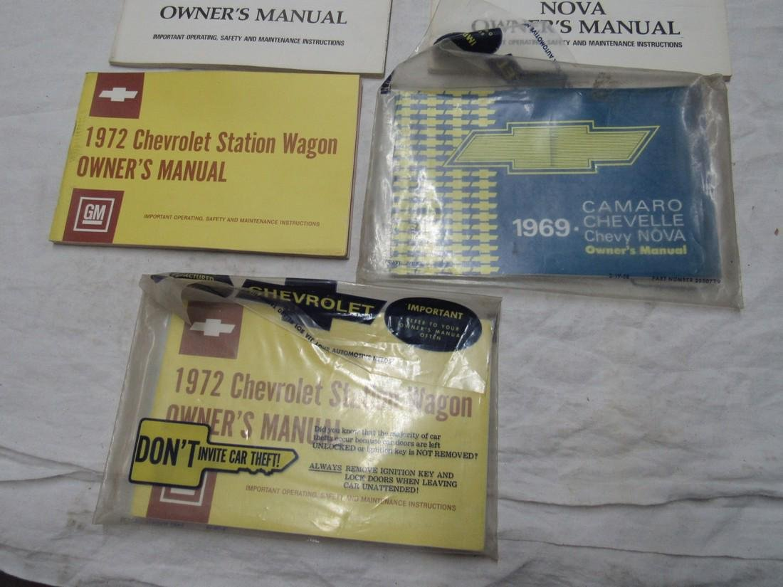 1969 Camaro Chevelle Nova 1974 1970 Owners Manuals - 3