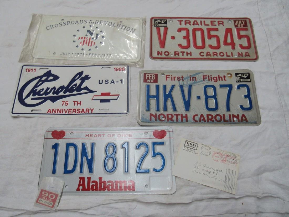 Alabama North Carolina & Misc License Plates