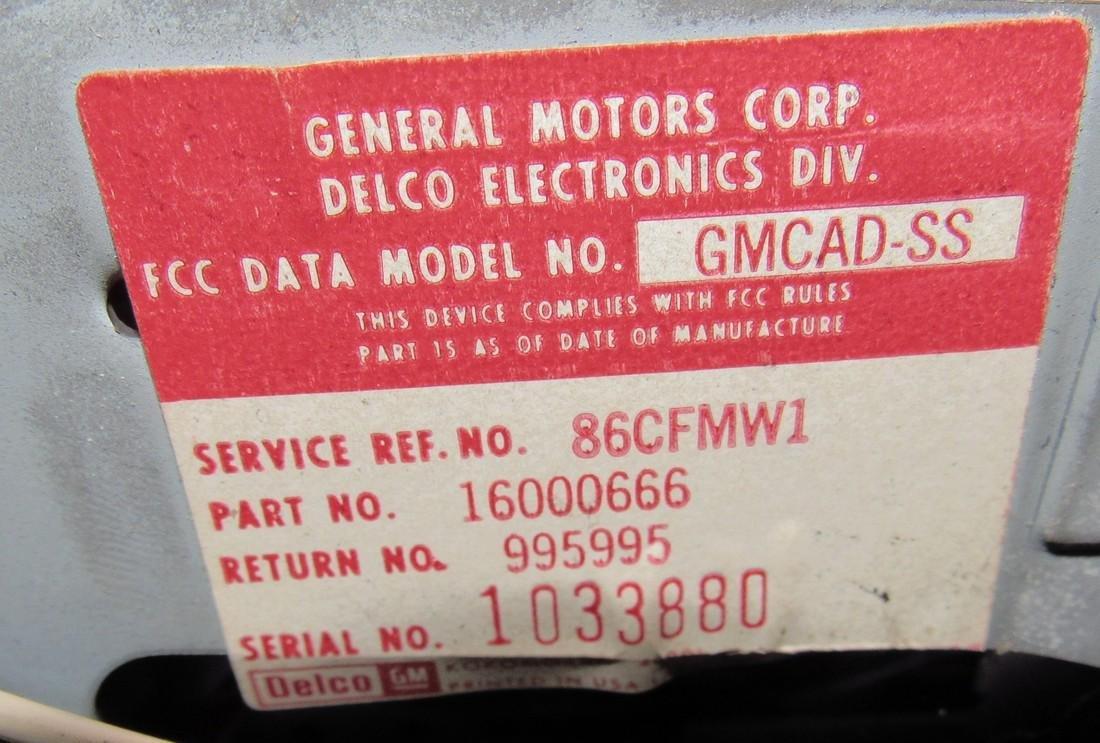 General Motors Car Radio Model # GMCCAD-SS - 5