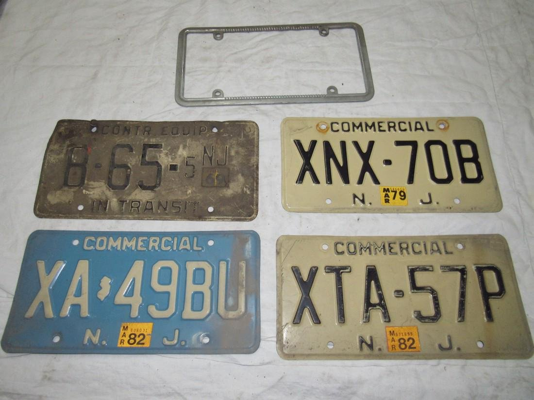 Construction Equipment & Commercial License Plates