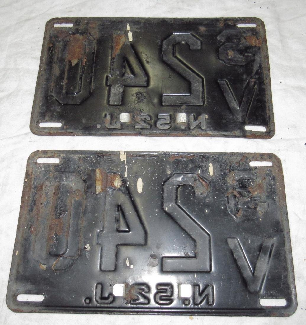 Pair of 1956 New Jersey License Plates - 2