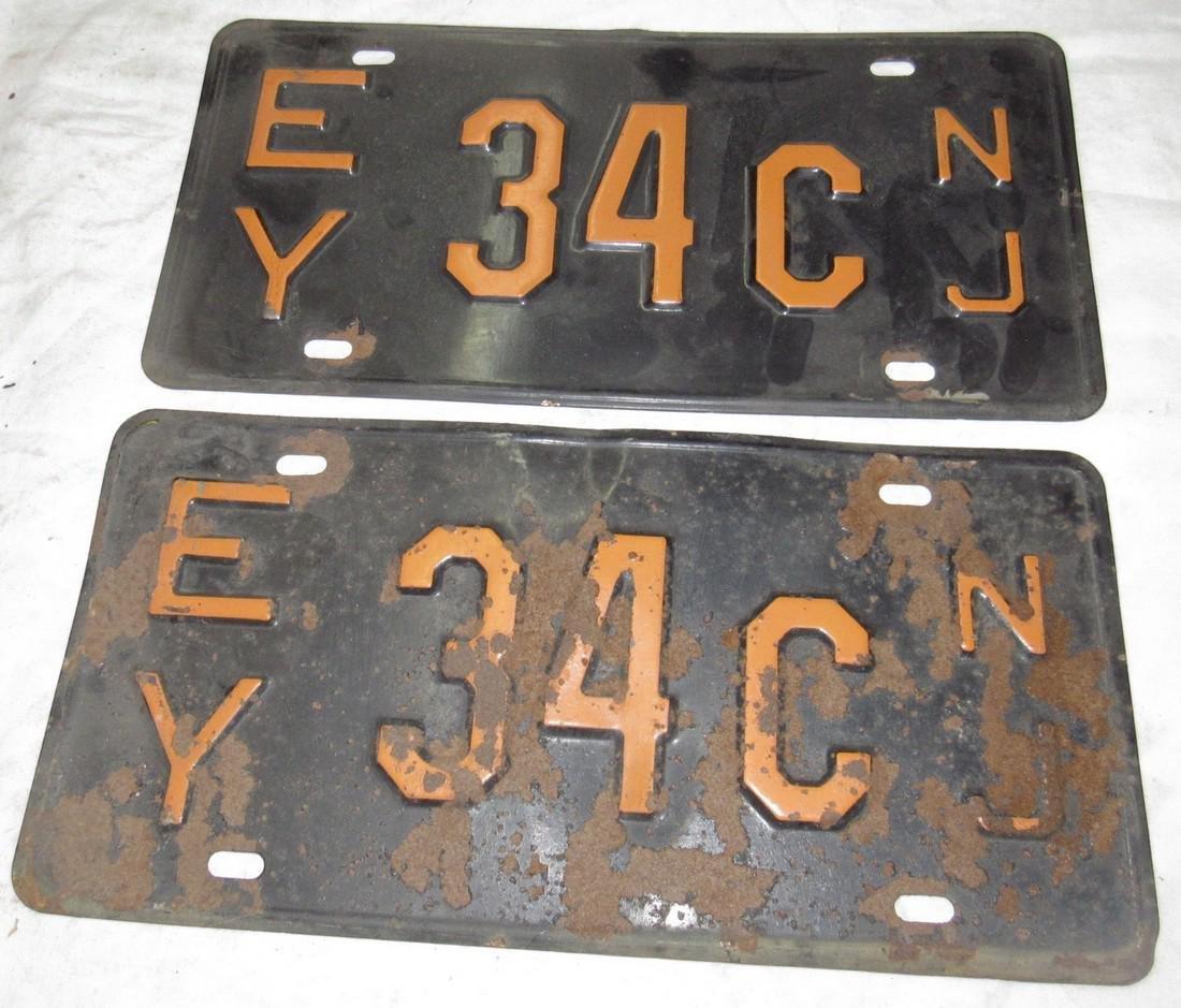 Pair of NJ License Plates