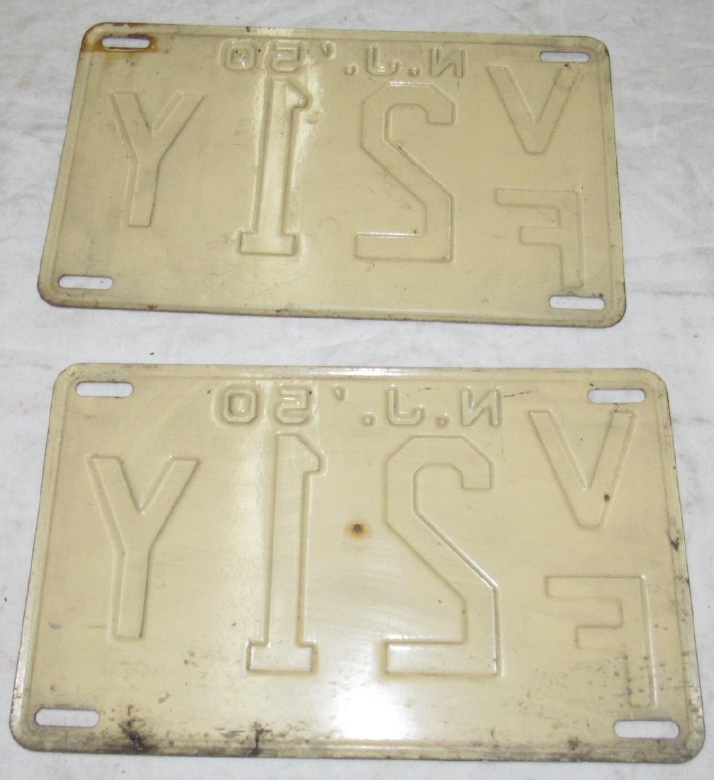 Pair of 1950 NJ License Plates - 2