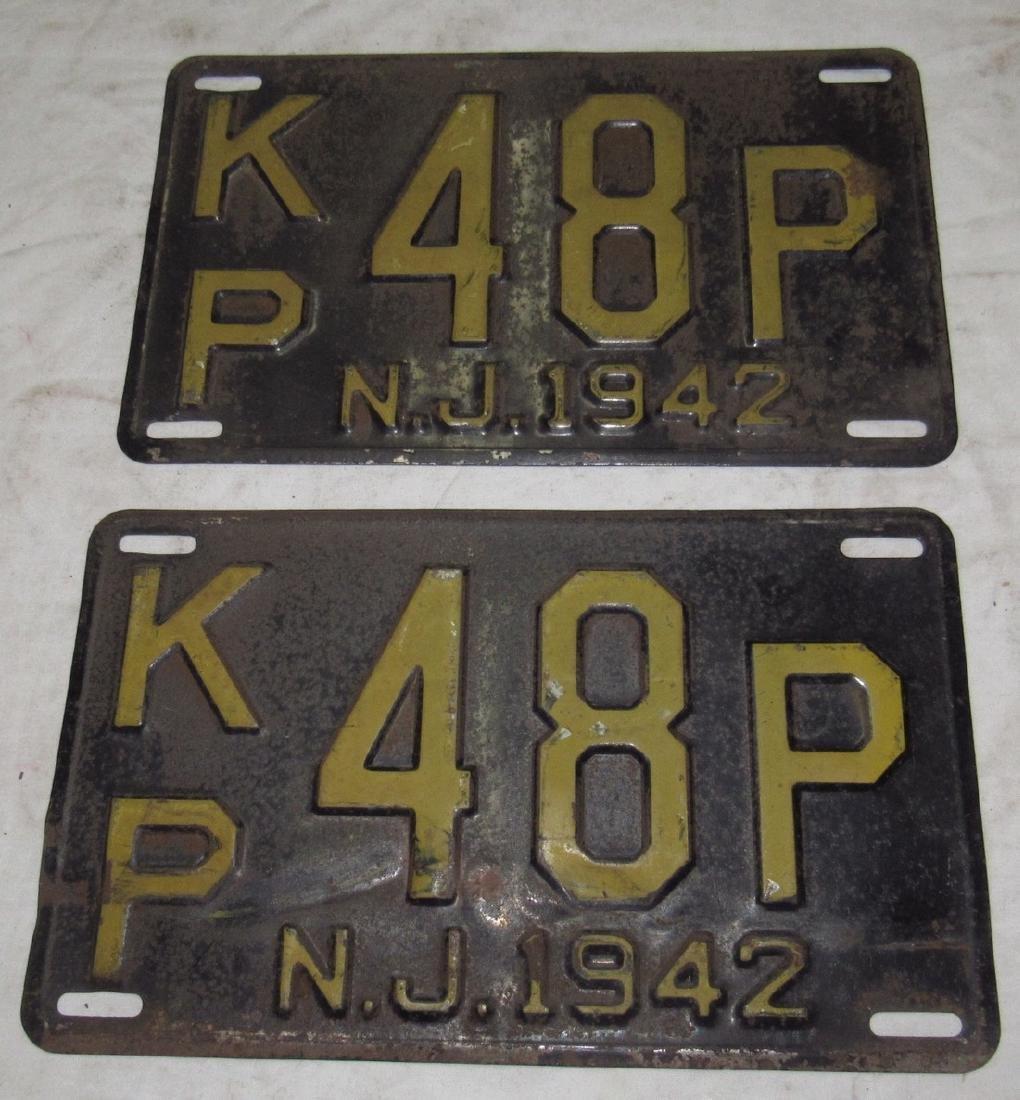 Pair of 1942 License Plates