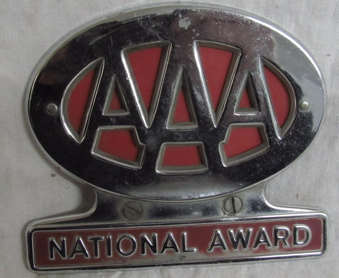AAA National Award License Plate Tag