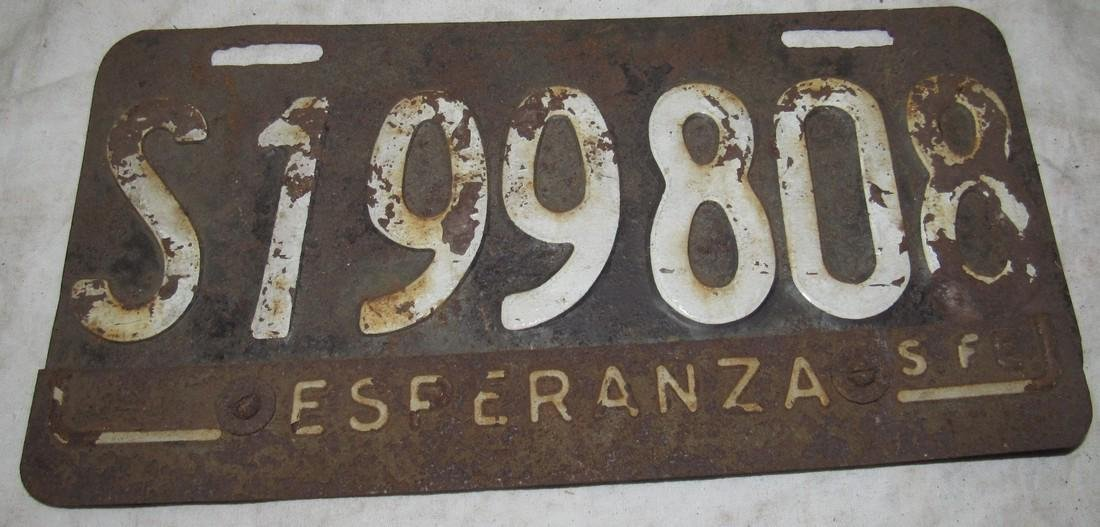 Antique Car License Plate