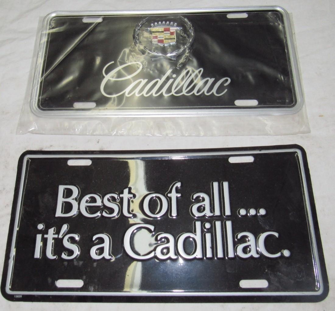2 Cadillac License Plates