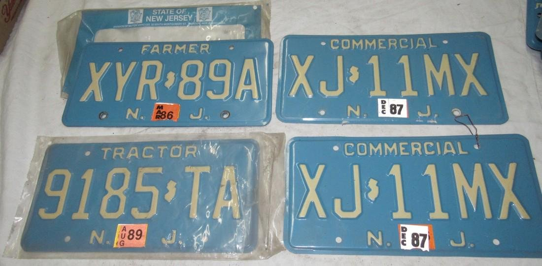 NJ Farmer Tractor Commercial License Plates