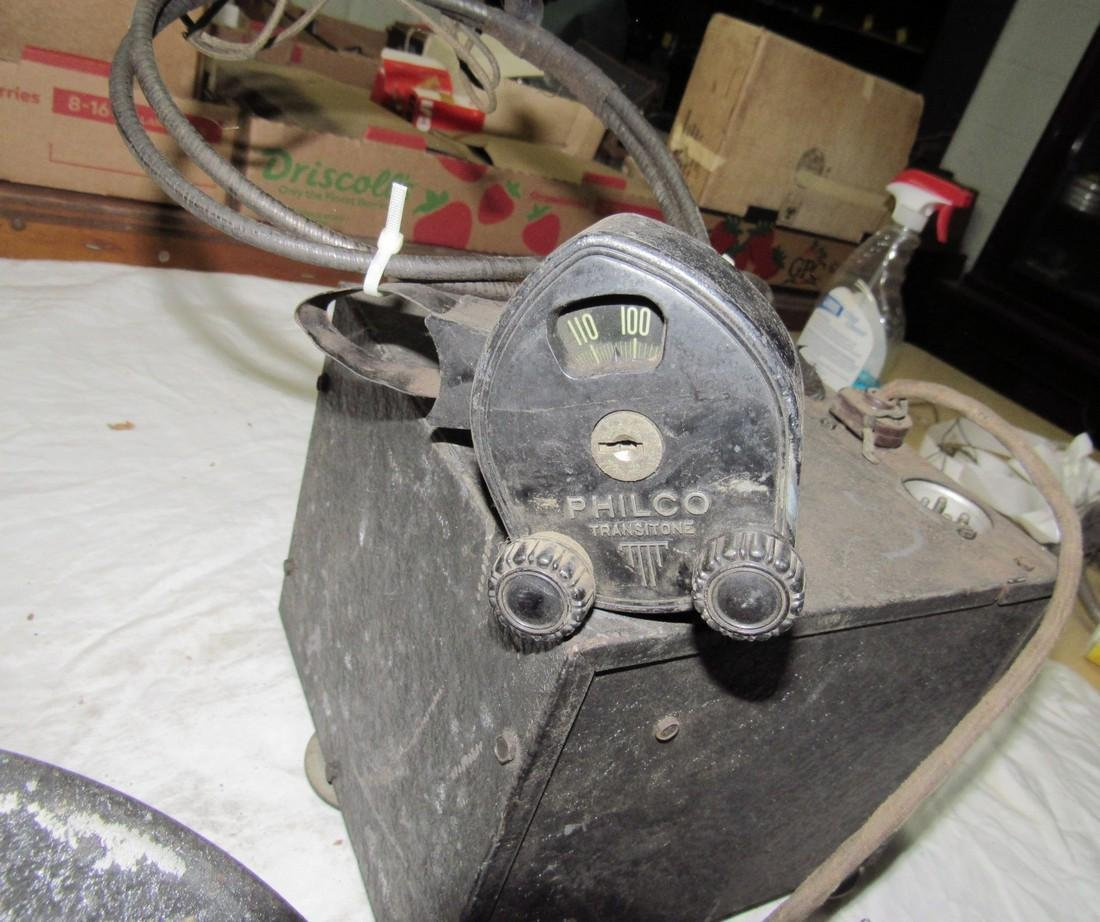 Antique Philco Car Radio & Speaker - 3