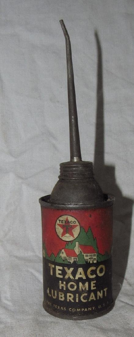 Antique Texaco Home Lubricant Oil Can