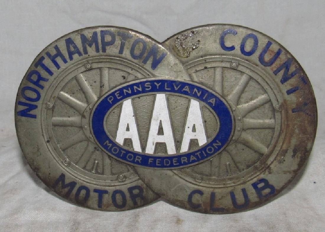 Northampton AAA PA Motor Club Bumper Tag