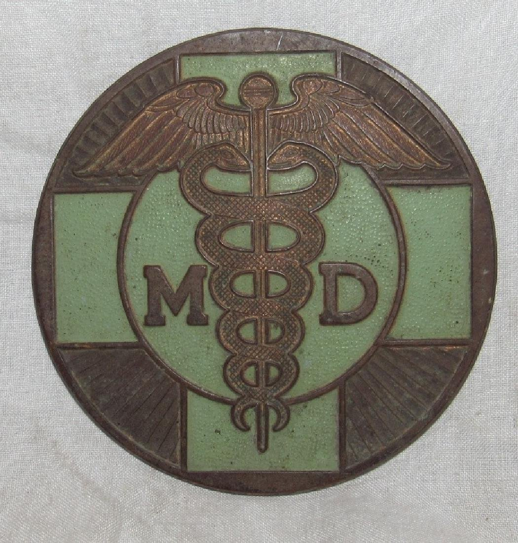 Medical Doctor MD License Plate Tag Topper
