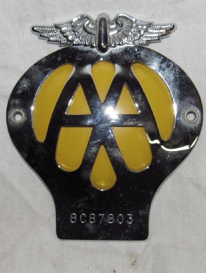 AAA Automobile Association License Plate Topper Badge