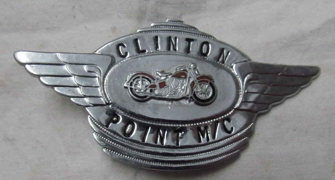 Clinton Point MC Motorcycle License Plate Tag