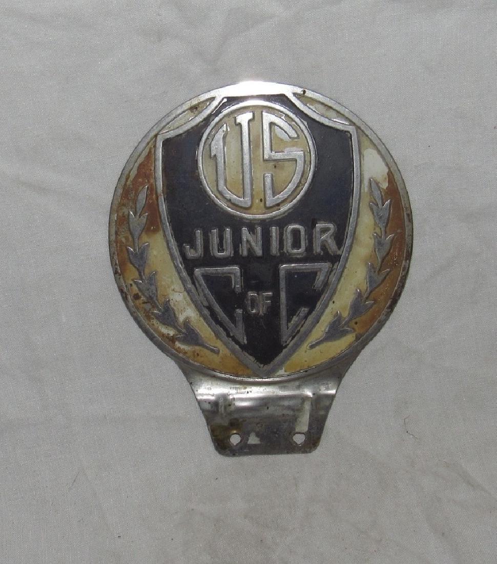 US Junior C of C License Plate Topper