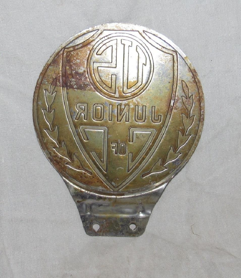 US Junior C of C License Plate Topper - 2