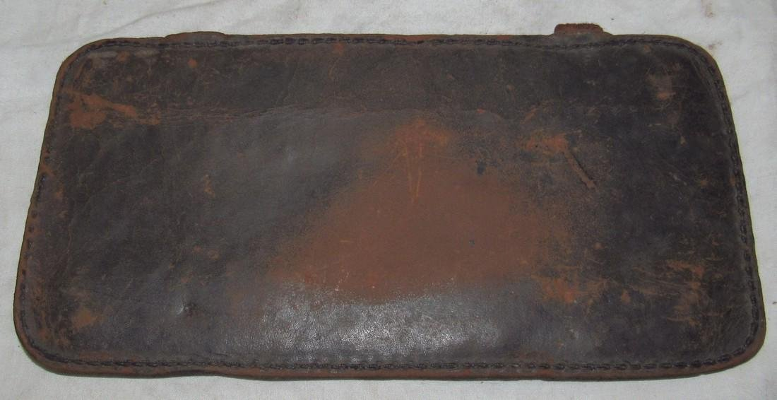Antique Leather Car License Plate - 2