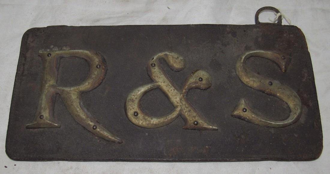 Antique R&S License Plate