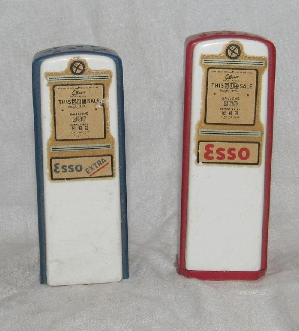 Stans Esso Hillside NJ Gas Pump Salt & Pepper Shakers