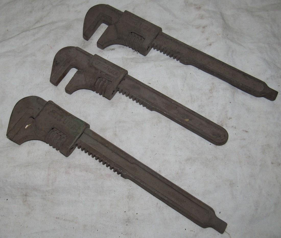 3 Ford Pipe Wrenches