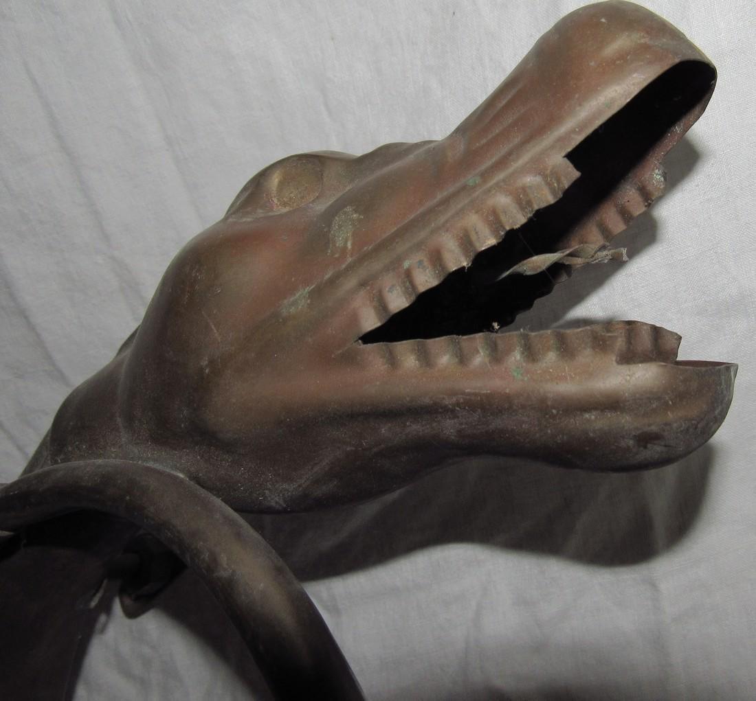 Brass Alligator Car Horn - 3