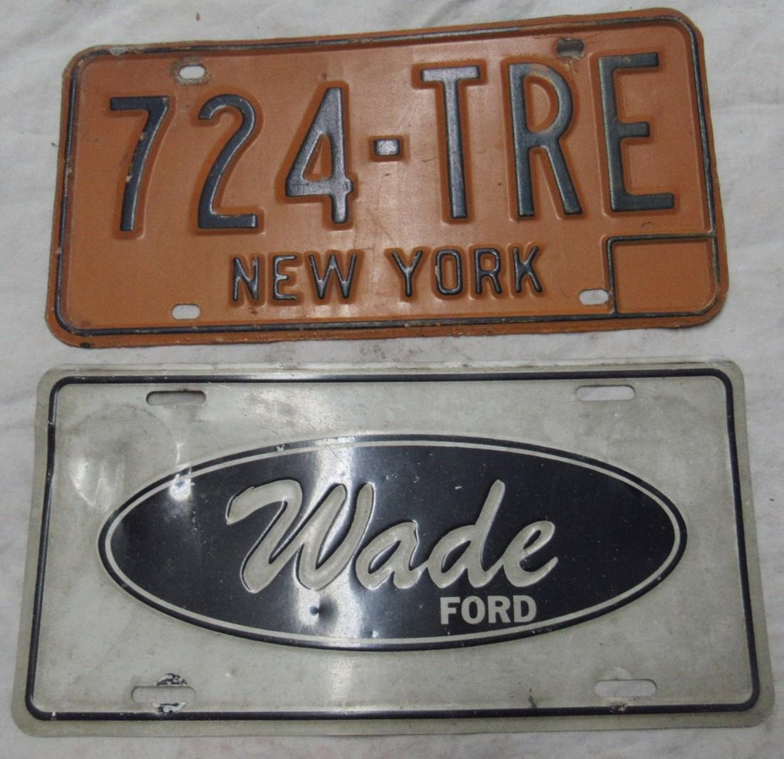 New York & Wade Ford License Plates