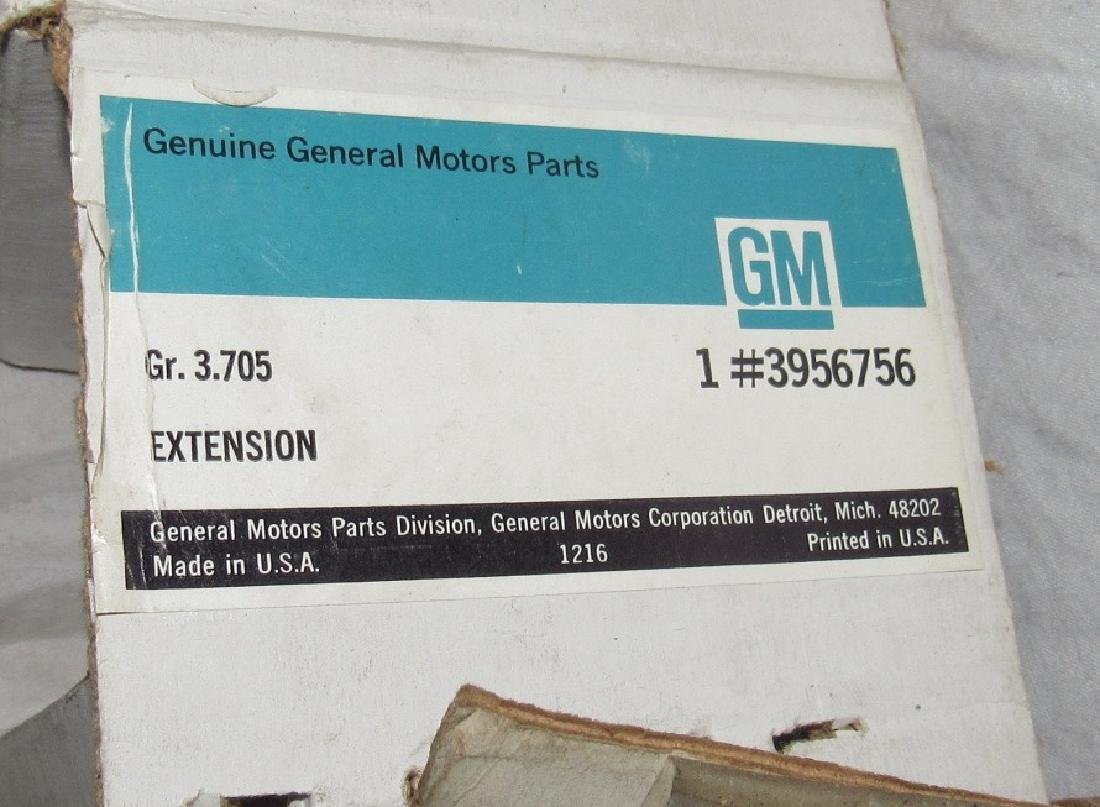 GM 1969 - 1972 Chevelle Pipe Extensions New Old Stock - 5