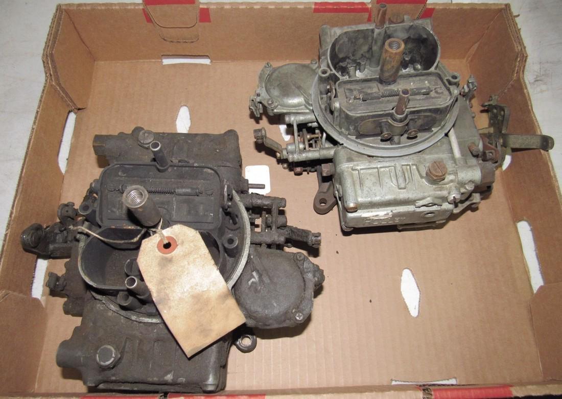 2 Holley 4 Barrel Carburetors