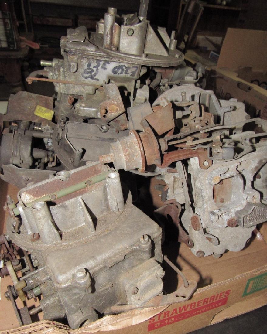 Box Full of 2 Barrel Carburetors - 2