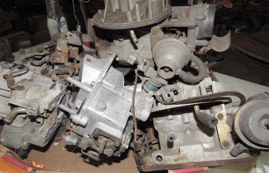 Box Full of 2 Barrel Carburetors - 3