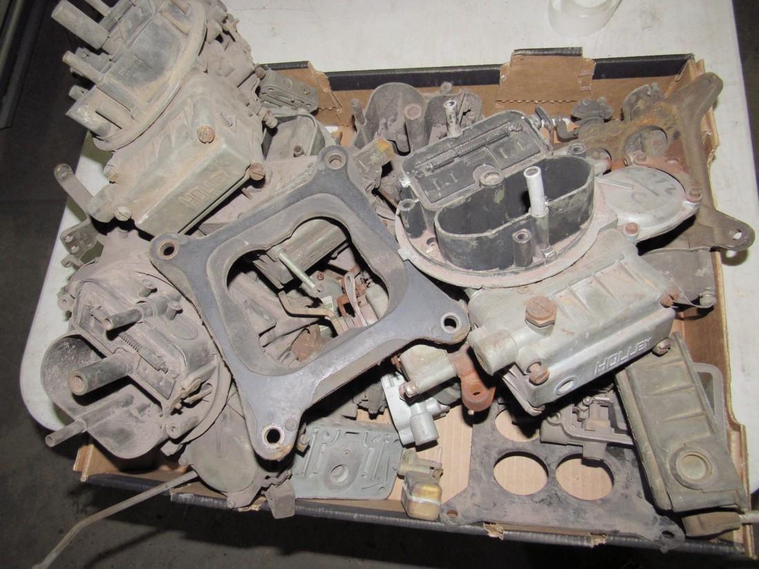 Box Full of Carburetors for Parts