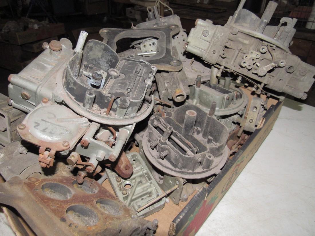 Box Full of Carburetors for Parts - 2
